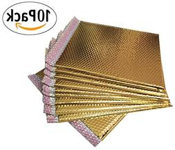 10 Pack Gold Bubble mailers 13.75 x 11. Metallic padded enve