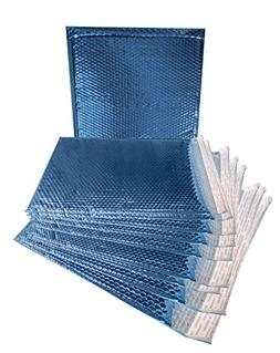 10 Pack Metallic Bubble mailers 15 x 17. Blue Padded envelop