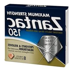 Zantac 150 Maximum Strength Ranitdine Tablets , 8 CT