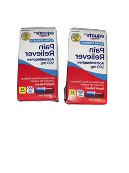 2 EQUATE 500mg Extra Strength Acetaminophen Rapid Release 24