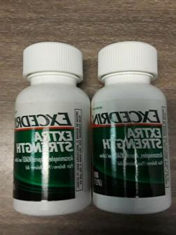 2 Bottles Excedrin Extra Strength Acetaminophen Aspirin NSAI