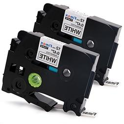 Fimax 2 Packs Standard Laminated Label Tapes Compatible For