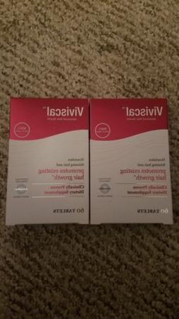 2 packs of Viviscal Extra Strength for Women Tablets. Exp 08