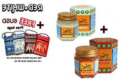 2 Of Tiger Balm Red+White Extra strength Herbal Rub Muscles