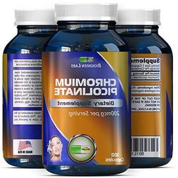200 mcg Chromium Picolinate Metabolism Supplement - Chromium