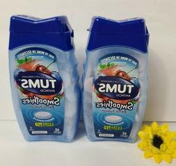 3 Tums Smoothies Extra Strength 750 Antacid Berry Fusion 3x6