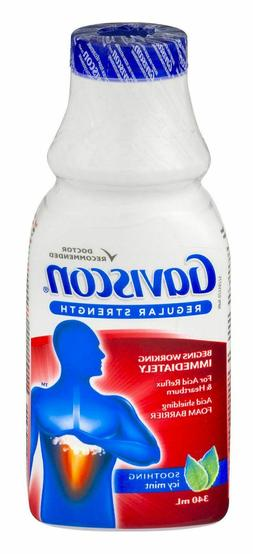 Gaviscon Regular Strength Soothing Icy Mint Liquid - 340ml -