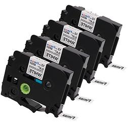 Fimax 4 Packs Compatible for Brother P-Touch TZe-S231 TZS231