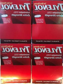 400 Tylenol 50 Pouches of 2 Caplets Each Extra Strength 500