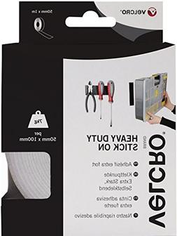 50mmx 1m White Velcro Heavy Duty Stick-on Tape