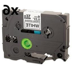 "TZe Extra-Strength Adhesive Laminated Labeling Tape, 1/4""w,"