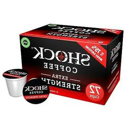 72ct - Shock Coffee Extra Strength Single Serve Cups. Up to