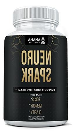 Ahana Nutrition Neuro Spark - Extra Strength Brain Supplemen