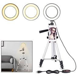 """B-Land 5.7"""" Ring Light with Tripod Stand for YouTube Video"""