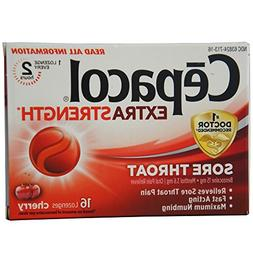Cepacol Maximum Strength Throat Drop Lozenges, Cherry, 16 Co
