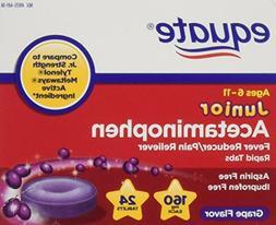 Equate, Junior Pain Reliever, Grape Flavor, Ages 6-11, 24 Me