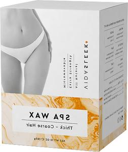 Extra Strength Hair Removal Waxing Kit Men + Women, All Natu