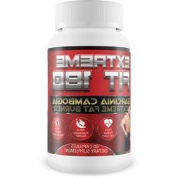 Extreme Fit 180 - Garcinia Cambogia Extreme Fat Burner-60% H