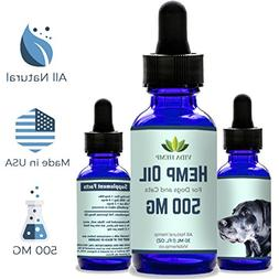 Full-Spectrum Hemp Oil - Provides Anxiety Relief for Dogs an