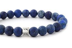 Kii Men's Matte Lapis Lazuli Bracelet