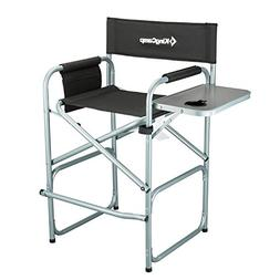 KingCamp Tall Director Chair Bar Height Steel Frame Collapsi