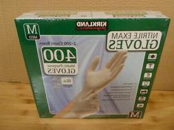 Kirkland Signature Nitrile Exam Gloves, Size Med. 200-Count