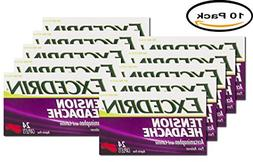 PACK OF 10 - Excedrin Tension Headache Pain Reliever Caplets