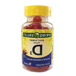 Spring Valley - Vitamin D-3 1000 IU, Peach, Blackberry, Stra