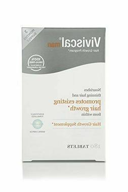 Viviscal Man Maximum Strength Hair Nourishment System, 180 T