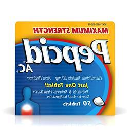 PepCid AC Acid Reducer Maximum Strength -- 50 Tablets
