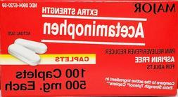 Major Acetaminophen 500 mg  100 Caplets