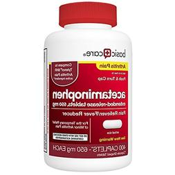 Basic Care Acetaminophen Extended-Release Tablets, 650 mg, A