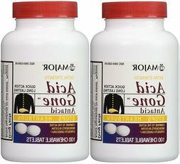 Acid Gone Antacid Heartburn Extra Strength Chewable Chew Tab