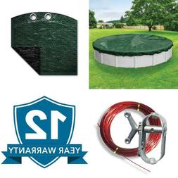 Advanced Waterproof Extra-Strength 24 Ft. Round Forest Green