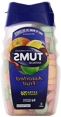 Tums Antacid/Calcium Supplement, Extra Strength, Assorted Fr