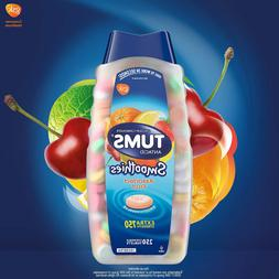 TUMS Extra Strength Smoothies 250 Chewable Tablets Heartburn