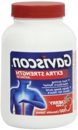 Gaviscon Antacid, Extra Strength, Cherry, Chewable Tablets,