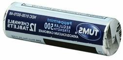 TUMS Antacid Regular Strength 500 Peppermint Chewable Tablet