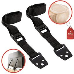 Waycy Anti-Tip TV Safety Straps for Flat Screen & Furniture