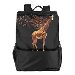 Outdoor Backpacks Giraffe Scattered Musical Knapsack Polyest