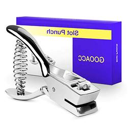 Badge Hole Slot Punch for ID Cards Hand Held, One Slot Punch