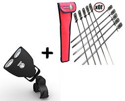 BBQ Skewers Set  Extra Long + Barbecue Grill Light - LUXURIO