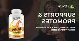Bolster Nutrients Biotin 5000 MCG - Maximum Strength Tablets