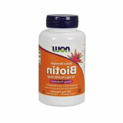 Now Foods Biotin 10 mg Extra Strength 120 Vcaps 2 Pack