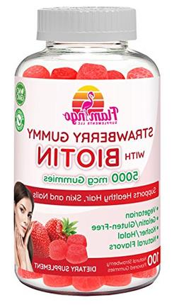 Flamingo Supplements - Biotin Gummies 5000 mcg for Women & M
