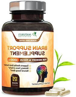 Premium Brain Support Supplement  Brain Memory Pills for Foc