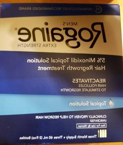 Brand NEW Men's Rogaine Extra Strength Topical Solution 3 Mo