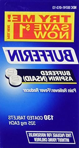 Bufferin Buffered Aspirin Pain Reliever/fever Reducer 325 Mg
