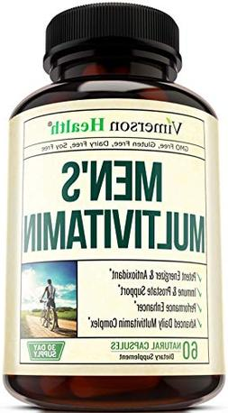 Men's Calcium Ascorbate Daily Multivitamin Supplement Vitami