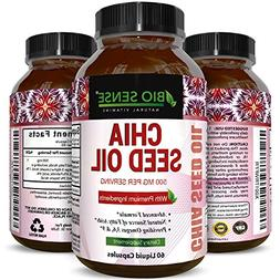 Chia Seed Oil Supplement for Weight Loss and Energy - Natura